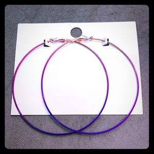 Forever 21 NWT Large Ombré Hoop Earrings